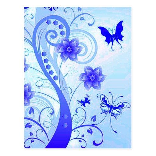 Ramilletes 2 de la mariposa tarjetas postales