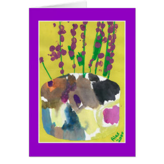 Ramilletes púrpuras tarjeta de felicitación
