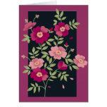 Ramilletes rosados para el día de madre - tarjeta