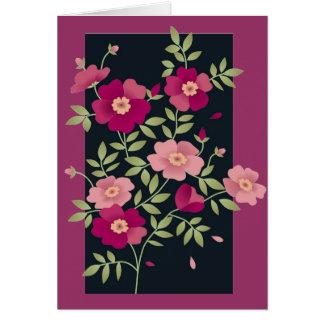 Ramilletes rosados - tarjeta de felicitación