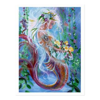 Ramilletes y perlas, arte de la sirena postal