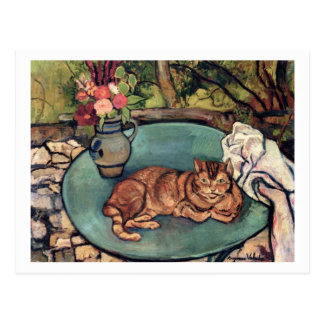 Raminou with Carnations by Suzanne Valadon Post Cards