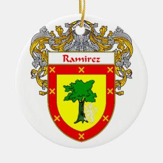 Ramirez Coat of Arms/Family Crest Ceramic Ornament