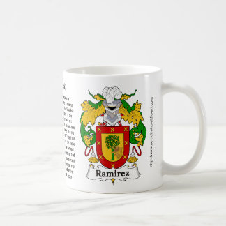 Ramirez Family Crest on a mug