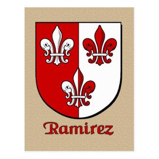 Ramirez Family Heraldic Shield Postcard