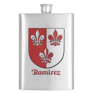 Ramirez Heraldic Shield Hip Flask