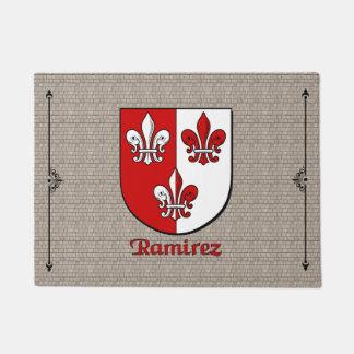 Ramirez Historical Shield on Cobblestone Doormat