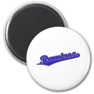 Ramirez in Blue 2 Inch Round Magnet
