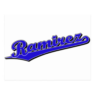 Ramirez in Blue Postcard