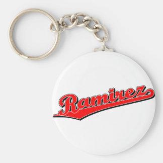 Ramirez in Red Basic Round Button Keychain