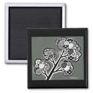 Ramita y flores I Imanes De Nevera