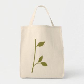 Ramita y hoja bolsa tela para la compra