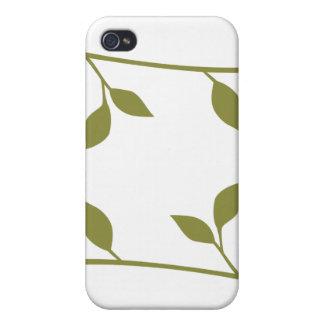 Ramita y hoja iPhone 4 carcasa