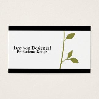 Ramita y hoja tarjetas de visita