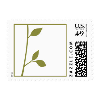 Ramita y hoja timbre postal