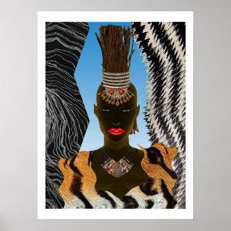 Ramitas africanas para el pelo póster