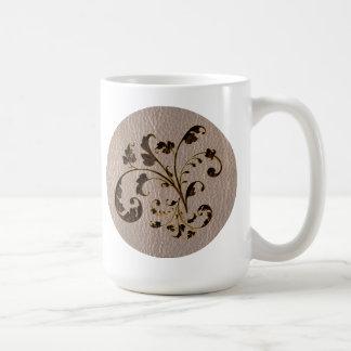 Ramo 2 de la Cuero-Mirada suave Tazas De Café