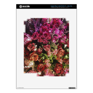 Ramo abstracto de flores pegatinas skins para iPad 3
