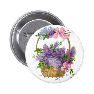 Ramo antiguo de la flor de las lilas púrpuras del  pins
