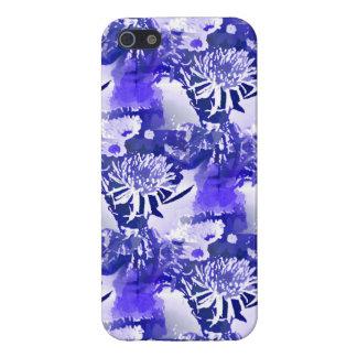 Ramo azul de la flor en impresión floral del flore iPhone 5 fundas