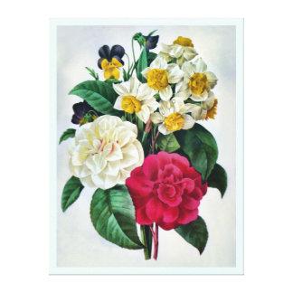 Ramo botánico hermoso impresión en lienzo estirada