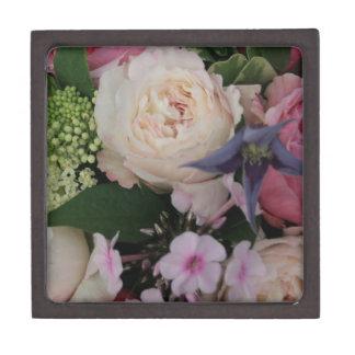 Ramo color de rosa caja de joyas de calidad