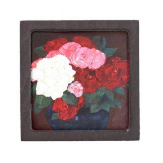 Ramo color de rosa cajas de joyas de calidad