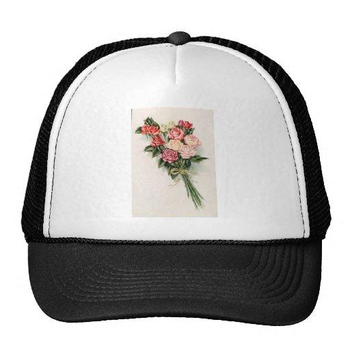 Ramo color de rosa gorras