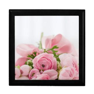 Ramo color de rosa hermoso caja de joyas