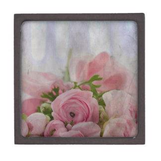 Ramo color de rosa nupcial del vintage cajas de joyas de calidad
