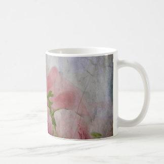 Ramo color de rosa nupcial del vintage taza de café