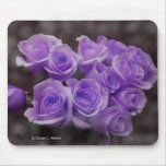Ramo color de rosa púrpura mousepads