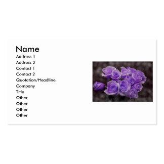 Ramo color de rosa púrpura tarjetas de visita