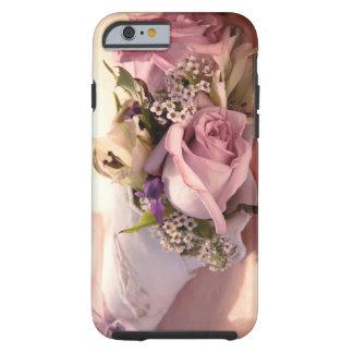 ramo color de rosa rosado con el caso del iPhone 6 Funda De iPhone 6 Tough