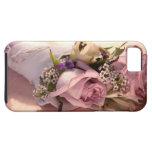 ramo color de rosa rosado con la caja dura de la c iPhone 5 cárcasa