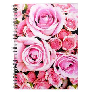 Ramo color de rosa rosado libretas