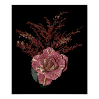 Ramo color de rosa rosado poster