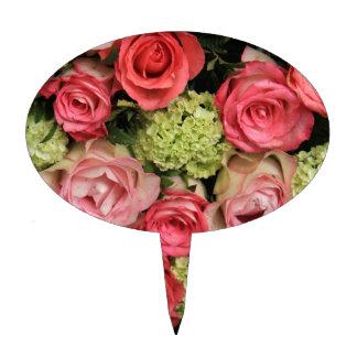 ramo color de rosa rosado por Therosegarden Decoraciones Para Tartas