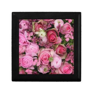 ramo color de rosa rosado por Therosegarden Cajas De Joyas