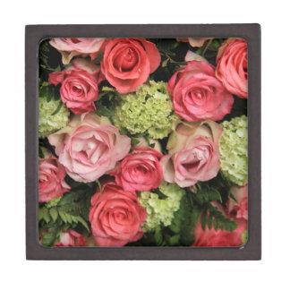 ramo color de rosa rosado por Therosegarden Cajas De Recuerdo De Calidad