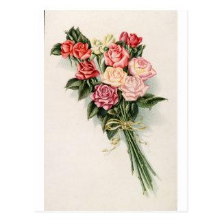 Ramo color de rosa postales