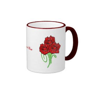 Ramo color de rosa tazas de café