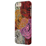 Ramo colorido de los rosas de las flores de los funda de iPhone 6 plus barely there