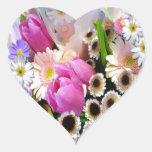 Ramo de abril calcomania de corazon personalizadas
