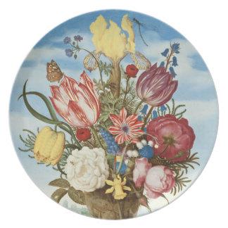 Ramo de Ambrosius Bosschaert - circa 1620 Plato De Comida
