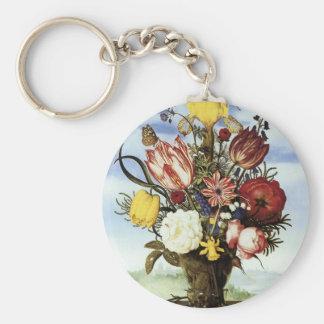 Ramo de Ambrosius Bosschaert de flores Llavero Personalizado