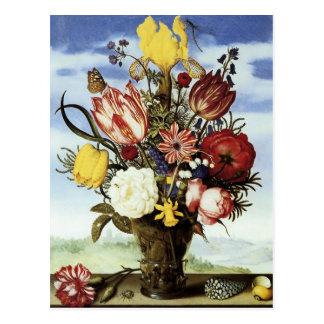 Ramo de Ambrosius Bosschaert de flores Postal