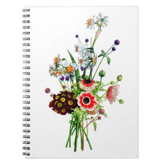 Ramo de aurícula y de Narcissis de la anémona por  Cuaderno