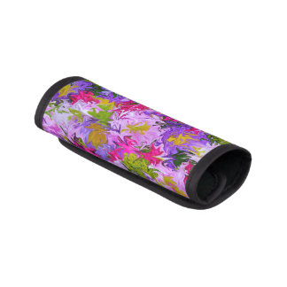 Ramo de diseño floral del arte abstracto de los funda para asa de maleta