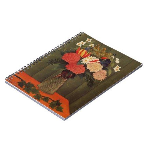 Ramo de Enrique Rousseau- de flores con la rama de Libros De Apuntes